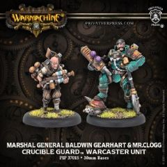 Marshal General Baldwin Gearheart & Mr. Clogg  Crucible Guard Warcaster (metal/resin)
